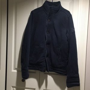 AF navy blue Grindstone creek heavyweight jacket M